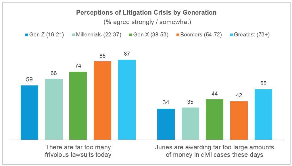 Litigation crisis by generation